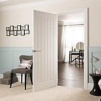 White Woodgrain effect Door(W)762mm