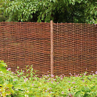 Willow Brown Garden screen (H)1.8m (W)1.8m , Pack of 3