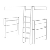 Wizard White Single High sleeper bed extension kit