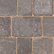 Woburn rumbled Graphite Block paving (L)134mm (W)134mm