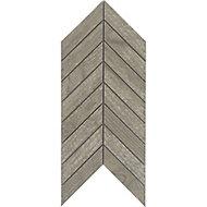 Wood effect Porcelain Mosaic tile, (L)300mm (W)155mm