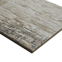 Worn wood Natural Matt Wood effect Porcelain Wall & floor Tile Sample