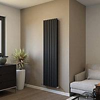 Ximax Fortuna Duplex Vertical Designer Radiator, Anthracite (W)472mm (H)1800mm