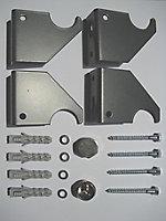 Ximax Fortuna Mirror Vertical Designer Radiator, Anthracite (W)590mm (H)1800mm
