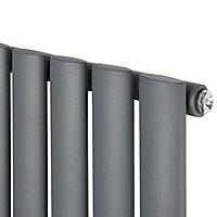 Ximax Fortuna Vertical Designer Radiator, Anthracite (W)472mm (H)1800mm