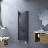 Ximax K4 Vertical Towel radiator, Anthracite (W)580mm (H)1215mm