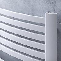 Ximax K4 Vertical Towel radiator, White (W)580mm (H)1215mm