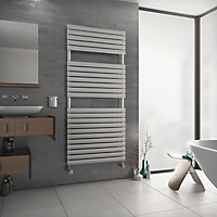 Ximax Nestor 1015W White Towel warmer (H)1512mm (W)600mm