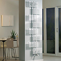 Ximax Parallel-Rail 694W White Towel warmer (H)1760mm (W)650mm