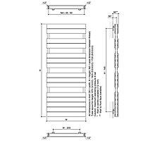 Ximax Vertical Towel radiator, White (W)600mm (H)1720mm
