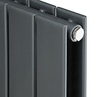 Ximax Vertirad Duplex Horizontal or vertical Designer Radiator, Anthracite (W)445mm (H)1800mm