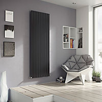 Ximax Vertirad Horizontal or vertical Designer Radiator, Anthracite (W)445mm (H)1500mm