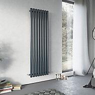 Ximax Vulkan Vertical Designer Radiator, Anthracite (W)435mm (H)1800mm