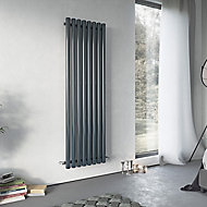 Ximax Vulkan Vertical Designer Radiator, Anthracite (W)585mm (H)1500mm