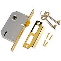 Yale 2L-21/2-CH 64mm Brass effect Metal 2 lever Sashlock