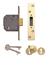 Yale 64mm Polished Brass 5 lever Deadlock