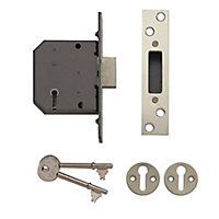 Yale 64mm Polished Chrome-plated Metal 5 lever Deadlock