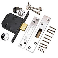 Yale 76mm Polished Chrome-plated Metal 5 lever Deadlock