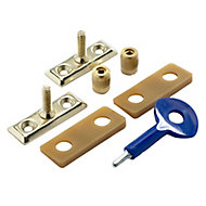 Yale Brass effect Metal Window Stay lock, Pack of 2