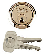 Yale Brass-plated Metal Single Rim Cylinder lock, (L)42mm