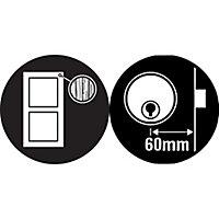 Yale Chrome effect LH & RH Deadlock Night latch, (H)66mm (W)93mm