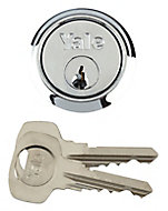 Yale Chrome-plated Metal Single Rim Cylinder lock, (L)42mm