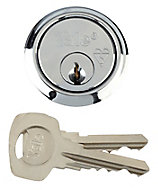 Yale High security Chrome-plated Metal Single Rim Cylinder lock, (L)42mm