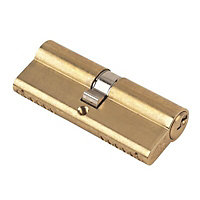 Yale KM series Brass Euro Cylinder lock, (L)80mm (W)17mm