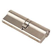 Yale KM series Satin Nickel Euro Cylinder lock, (L)95mm (W)17mm