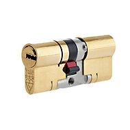 Yale Platinum Brass Single Euro Cylinder lock, (L)100mm