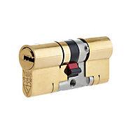 Yale Platinum Brass Single Euro Cylinder lock, (L)70mm