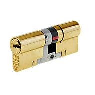 Yale Platinum Brass Single Euro Cylinder lock, (L)95mm