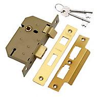 Yale PM320 2.5P 64mm Brass effect Metal 3 lever Sashlock