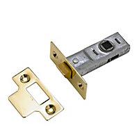 Yale Polished Brass Tubular Mortice latch (L)170mm