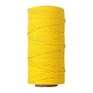 Yellow Braided nylon Brick line 0.1m