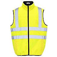 Yellow Hi-vis bodywarmer Large