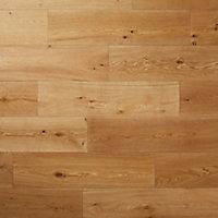 Ystad Natural Oak Solid wood Flooring Sample