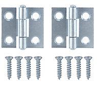 Zinc-plated Metal Butt Door hinge (L)25mm NO87, Pack of 2