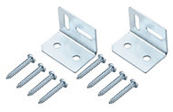 Zinc-plated Mild steel Angle bracket (H)38mm (W)29mm (L)29mm, Pack of 2