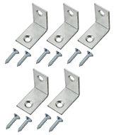 Zinc-plated Mild steel Corner bracket (L)25mm, Pack of 20