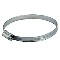 Zinc-plated Steel 120mm Hose clip, Pack of 2