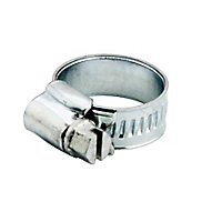 Zinc-plated Steel 20mm Hose clip, Pack of 20