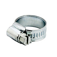 Zinc-plated Steel 20mm Hose clip, Pack of 2