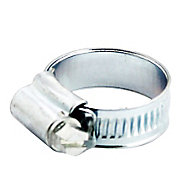 Zinc-plated Steel 25mm Hose clip, Pack of 20