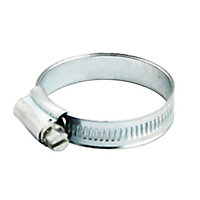 Zinc-plated Steel 45mm Hose clip, Pack of 2