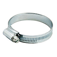 Zinc-plated Steel 55mm Hose clip, Pack of 2