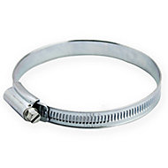 Zinc-plated Steel 90mm Hose clip, Pack of 2