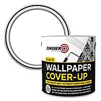 Zinsser 3-in-1 Off white Wallpaper Matt Cover-up paint, 2.5