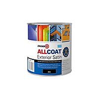 Zinsser AllCoat Black Multi-surface paint, 1L