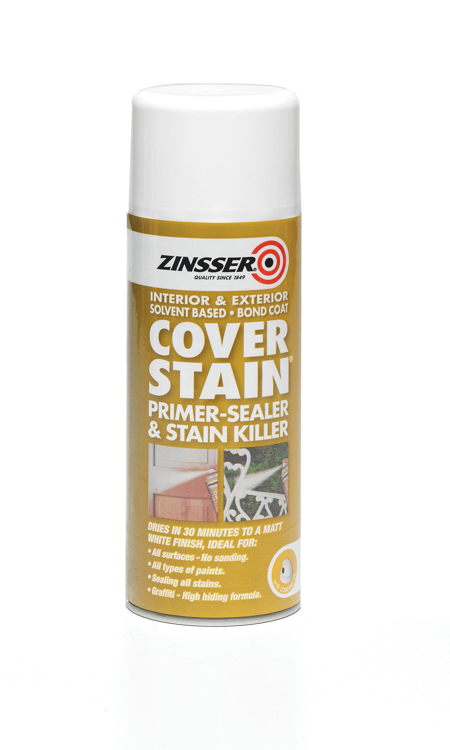 Zinsser Cover stain White Wall & ceiling Matt Primer, 400ml